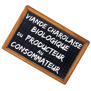 Vente directe de viande bio charolaise, du producteur au consommateur